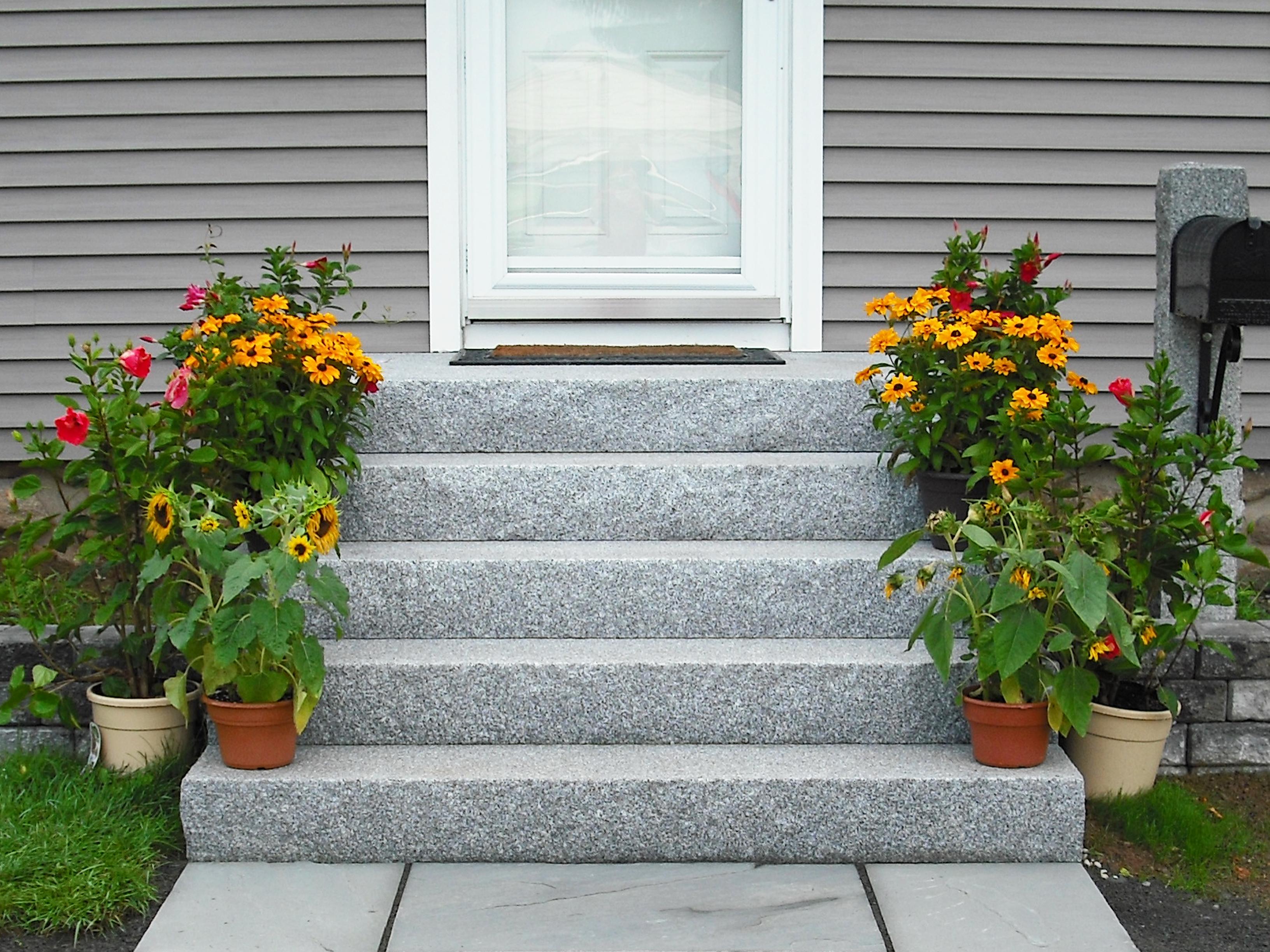 Woodbury Gray granite steps