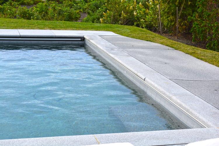 Granite pool coping