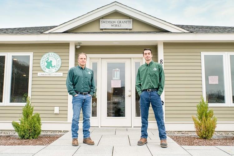 The managers of the Swenson Granite Works Shrewsbury, Massachusetts store