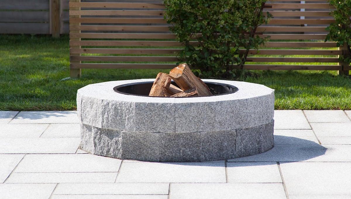 Woodbury Gray granite DIY fire pit