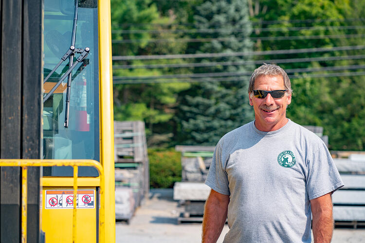 Bob Chase, Yard Foreman at the Swenson Granite Works Concord, New Hampshire                                                                                                                                                                          retail store