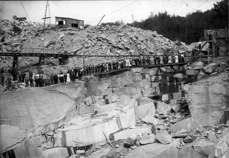 Historic photo -- Swenson Granite Works Concord Gray granite quarried from Rattlesnake Hill in New Hampshire