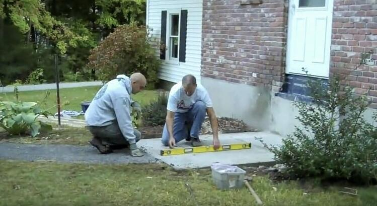 Concrete or Gravel Pad for Steps