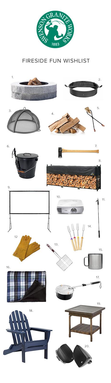 Swenson Granite Works Fireside Fun Wishlist DIY Granite Fire Pit