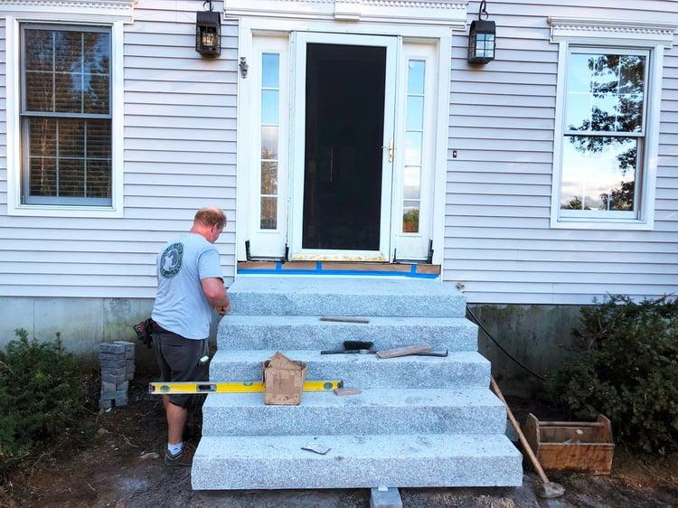 Installing a Set of Granite Steps