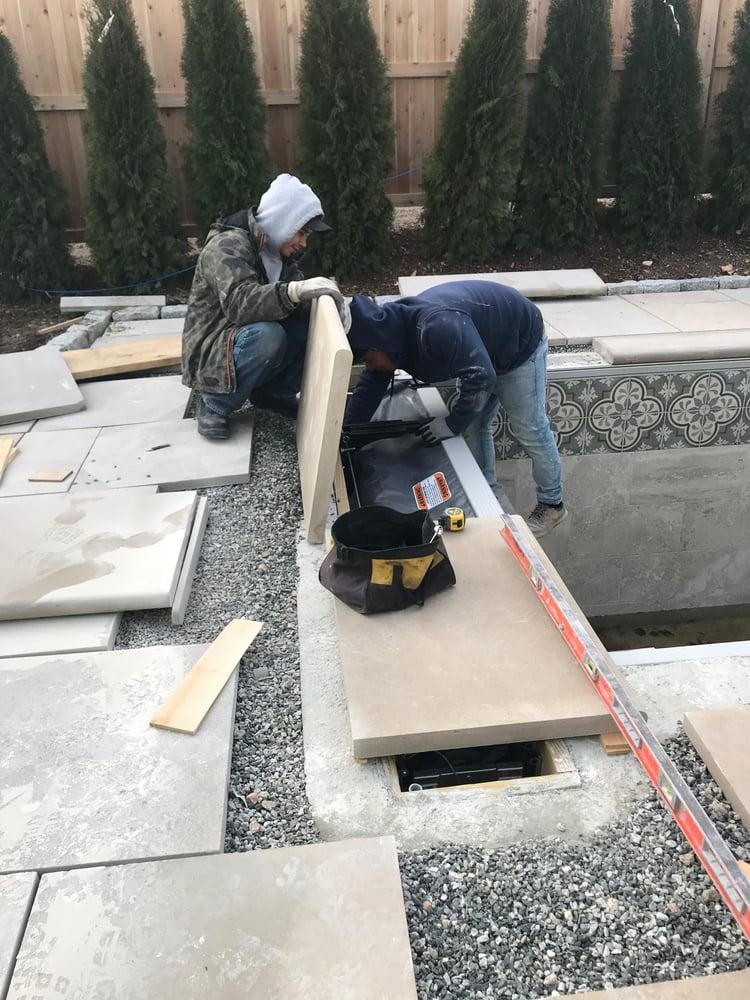 Indiana Limestone pool coping