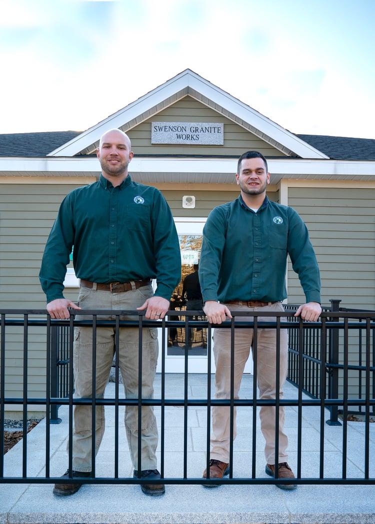 Swenson Granite Works South Hadley Store Managers Dan Richard and TJ Gajewski