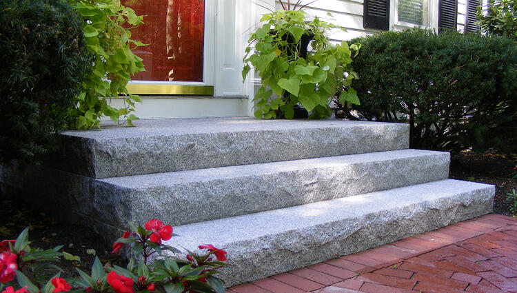 Swenson Granite Works Woodbury Gray granite steps