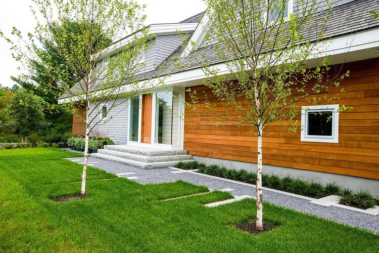 Cedar siding coastal home