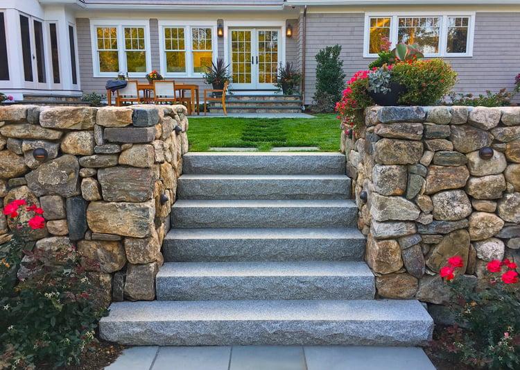 Seoane Landscape_Cohassett MA_Woodbury Gray Steps