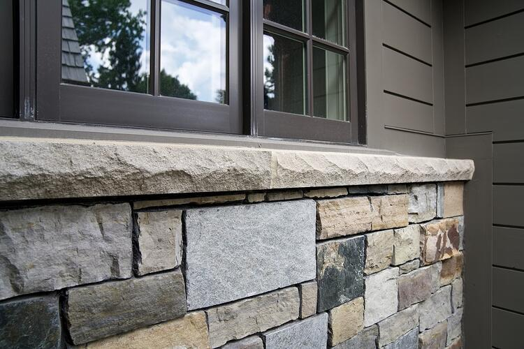 Swenson Granite Works' Full Color Blend limestone sills