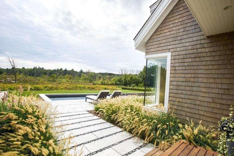 Contemporary minimalist landscape in Andover, Massachusetts