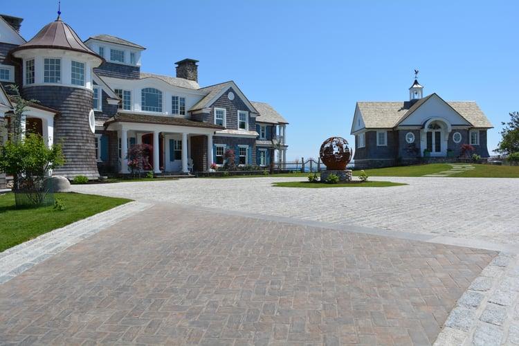 Driveway made up of 7,000 granite cobblestones