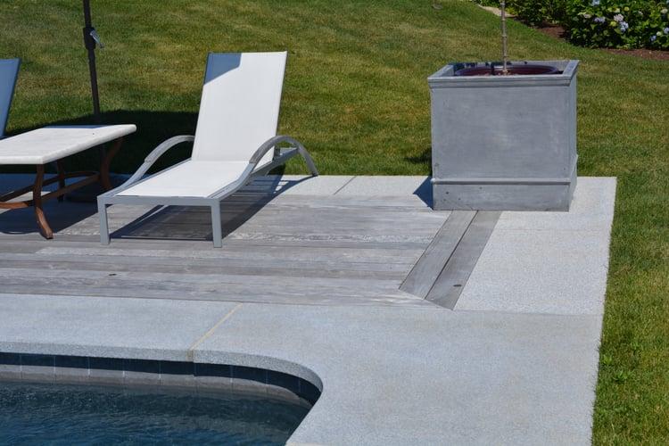 Woodbury Gray granite pool coping with epay decking