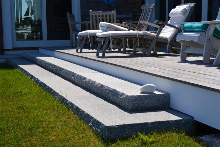 Woodbury Gray granite treads