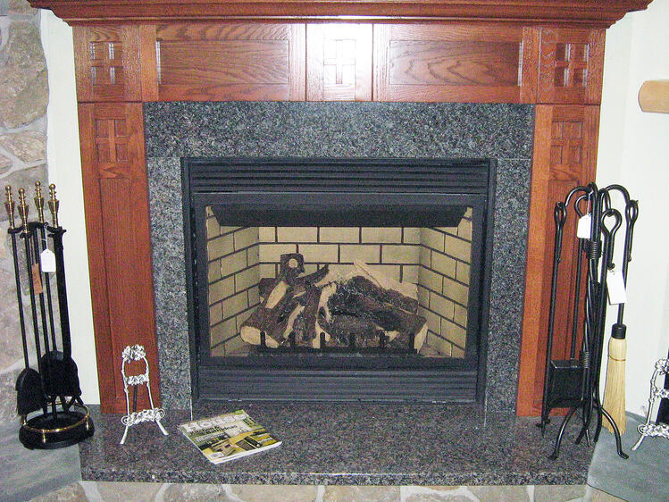 Indoor Fireplace Granite Surround and Hearth