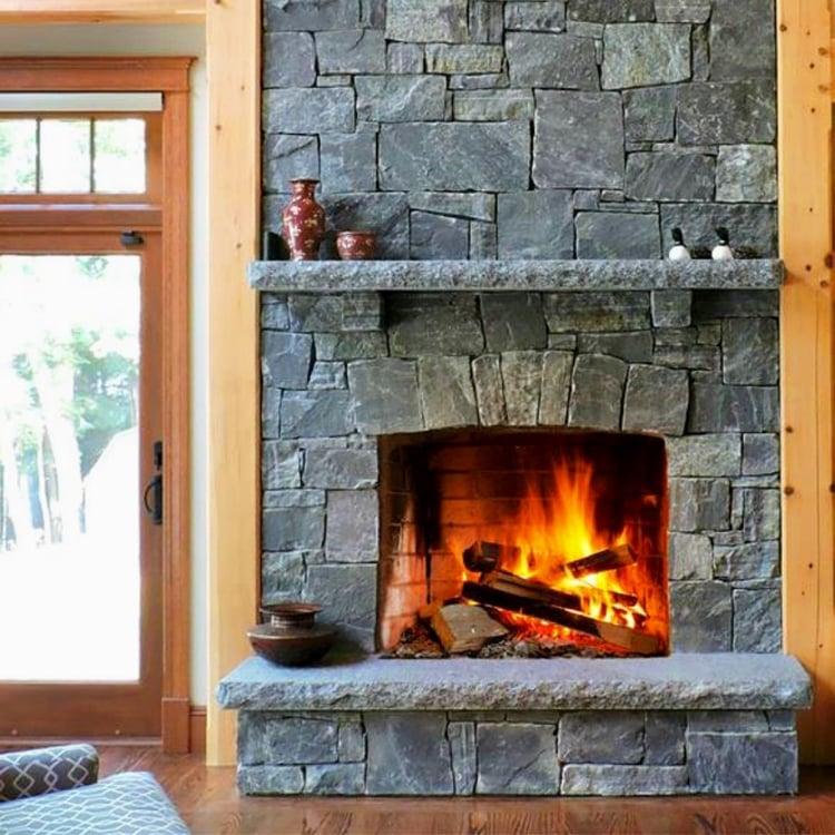 Indoor Fireplace Granite Veneer