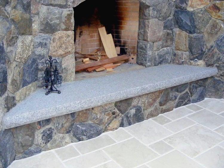 Indoor Fireplace Granite Hearth