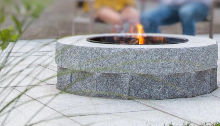DIY Woodbury Gray granite fire pit