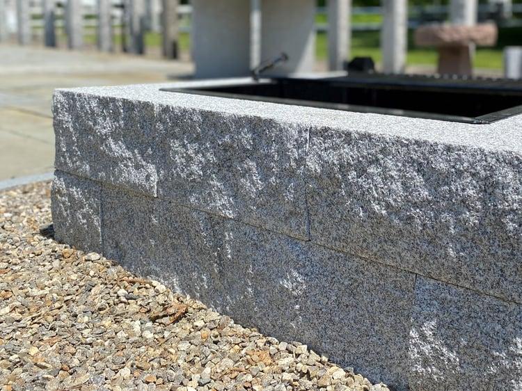 Square Woodbury Gray granite DIY fire pit
