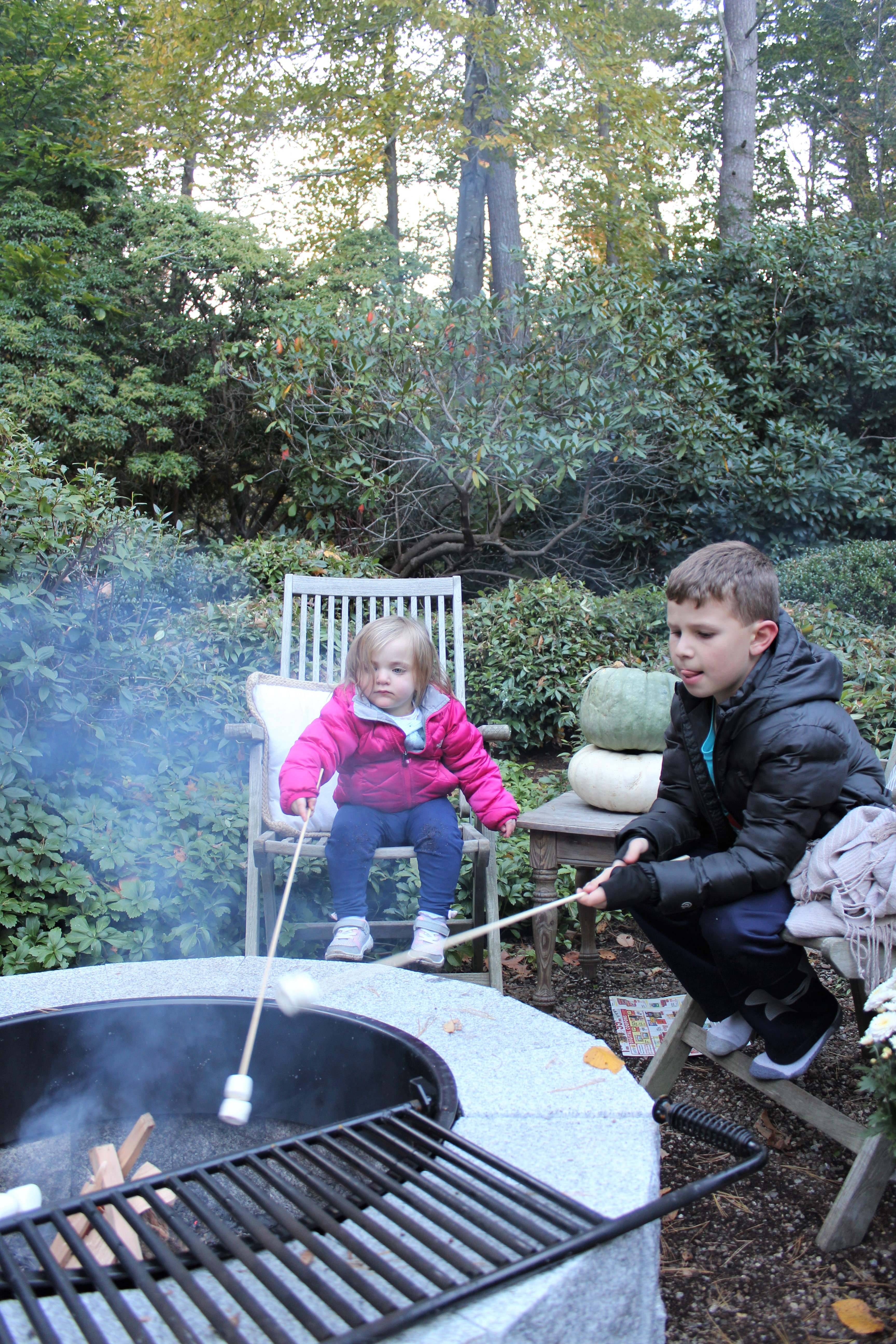 Migonis Home Woodbury Gray granite fire pit DIY project