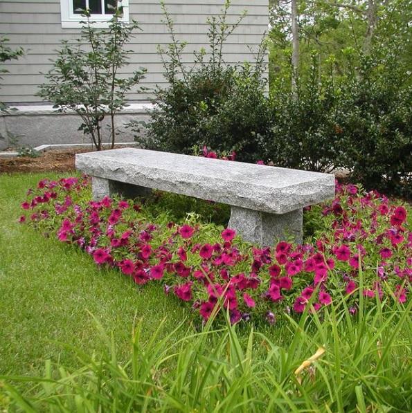 Woodbury Gray granite classic rectangular bench