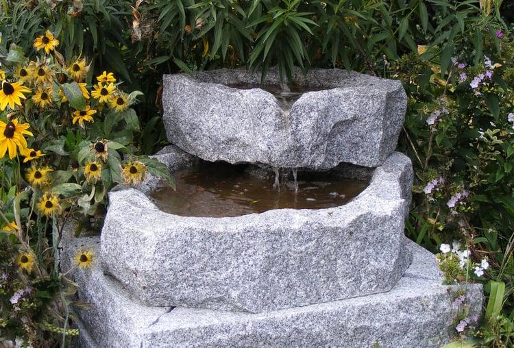 Swenson Granite Works 2-tier granite fountain