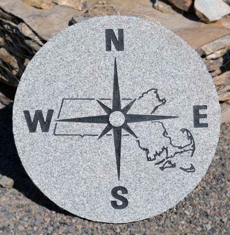Woodbury Gray granite compass