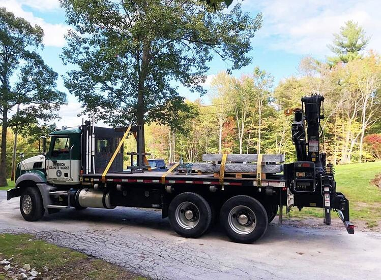 Swenson Granite Works delivery truck