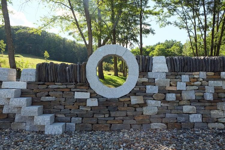 Swenson Granite Works granite moon gate