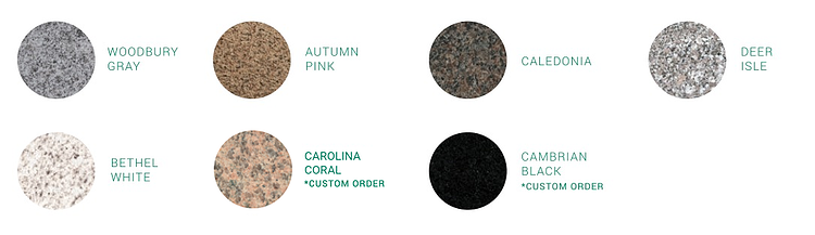 Swenson Granite Works granite colors