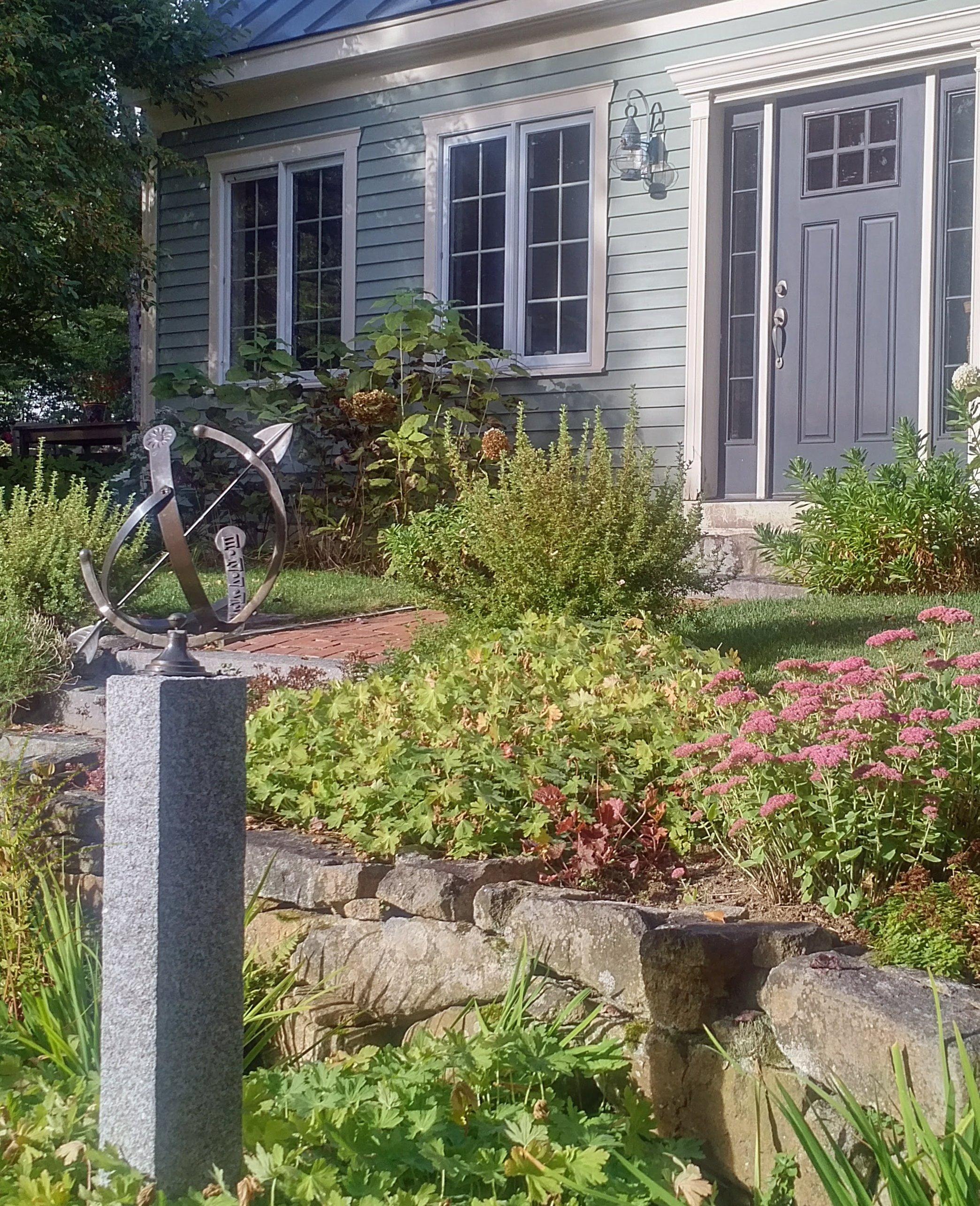 Granite post as a sundial base