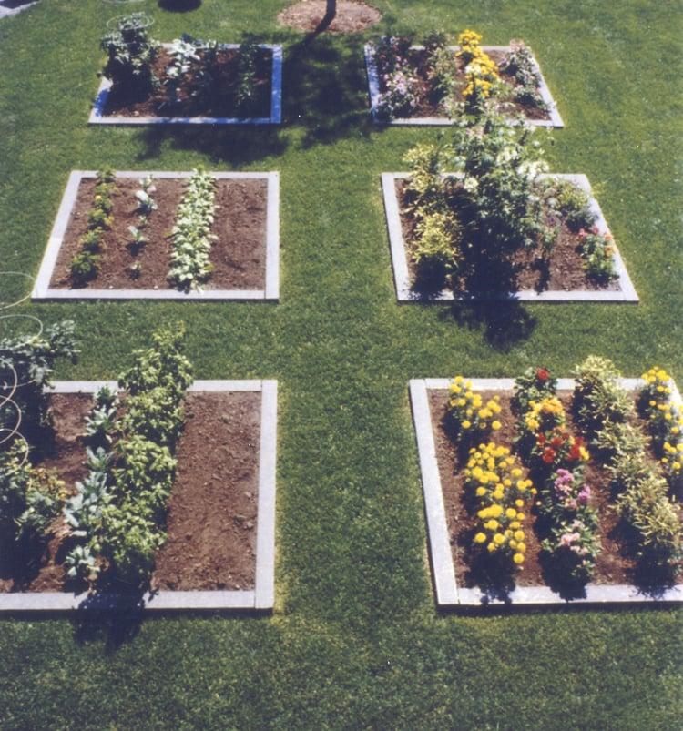 Herb garden with Swenson Granite Works' granite garden edging