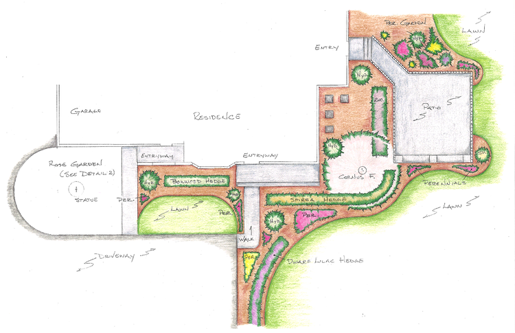 Landscape plan by See Level Landscape Design
