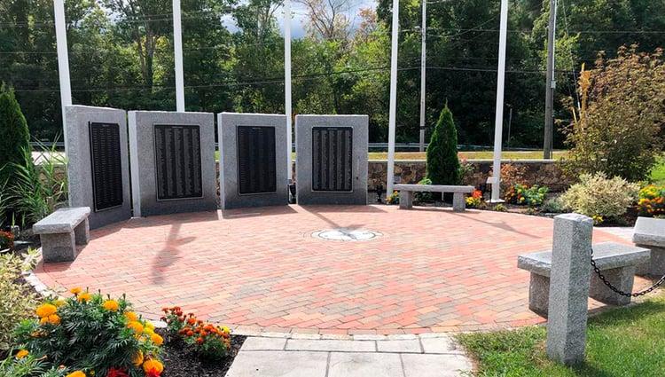 Hanover Veterans Memorial in Hanover, MA