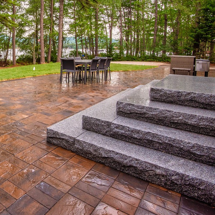 Swenson Granite Works tiered steps
