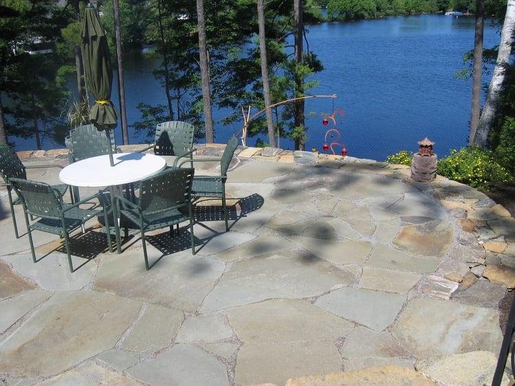 Irregular bluestone rustic patio
