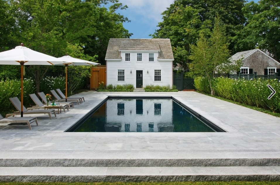 Woodbury Gray granite pavers and coping, Edgartown, MA