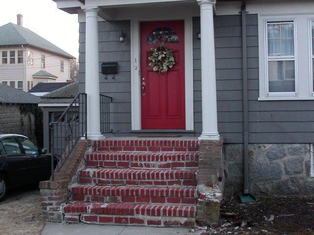 Brick steps before