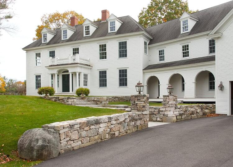 Classic Colonial Homes And The New England Stone That Give Them Curb