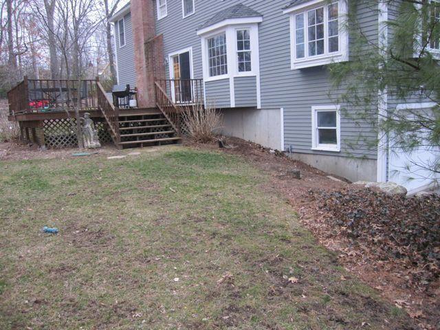 Backyard deck before
