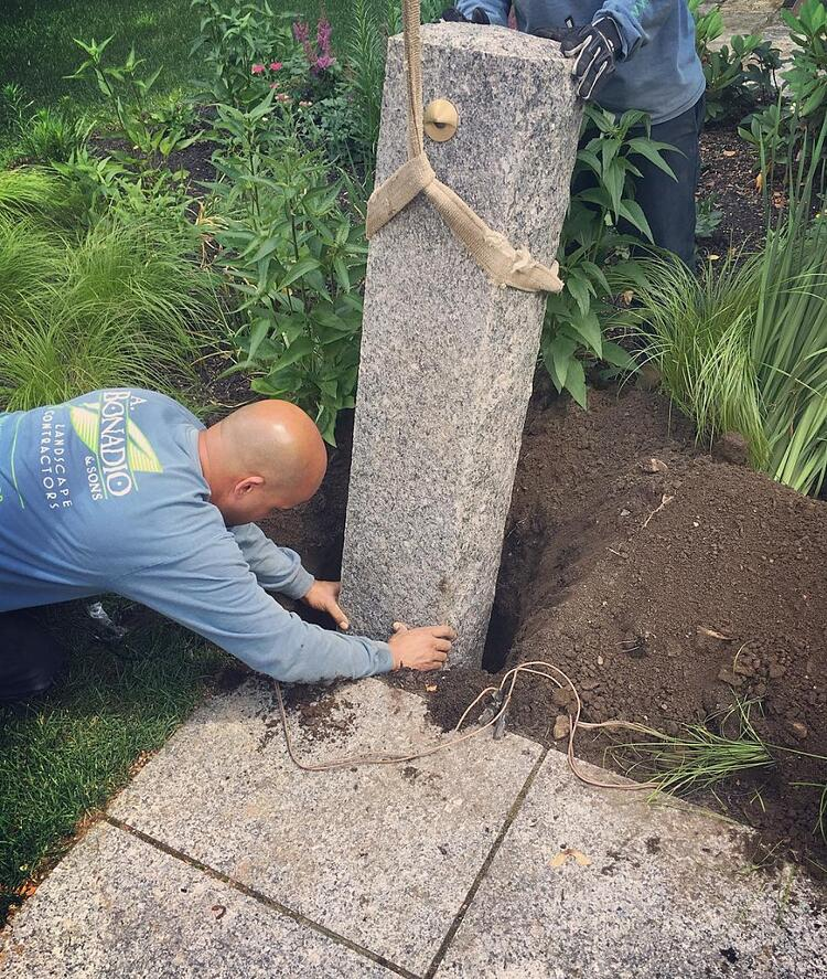 Granite post installation