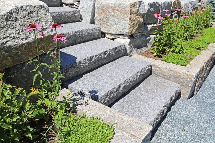 Swenson Granite Works Woodbury Gray granite steps