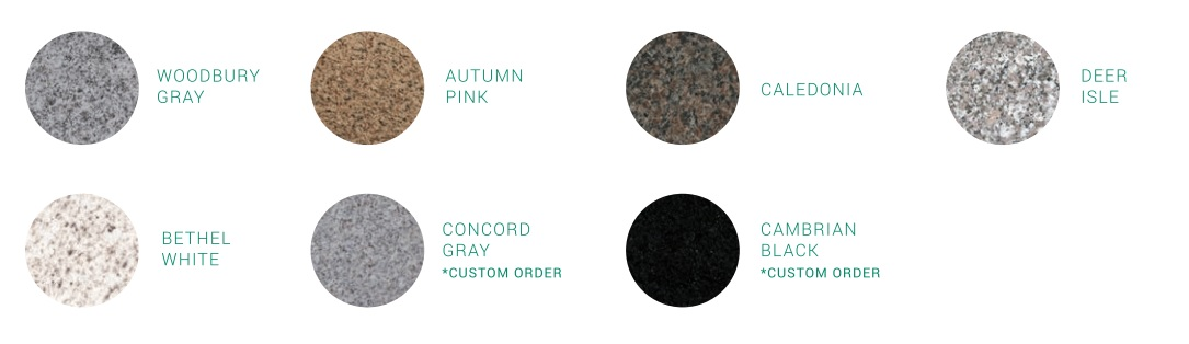 Swenson Granite Works stone options