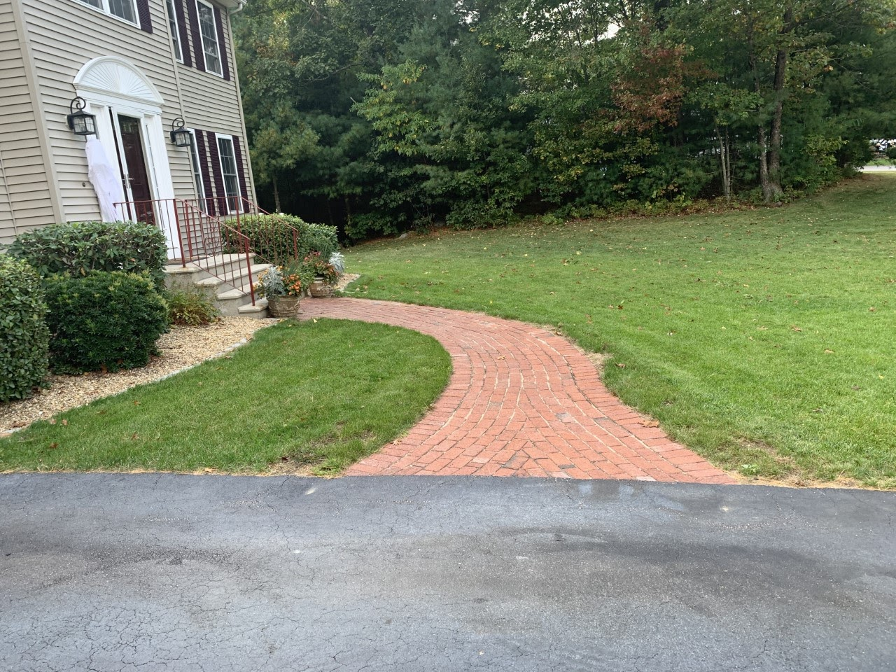 Before and After: Natural Path Landscaping steps project