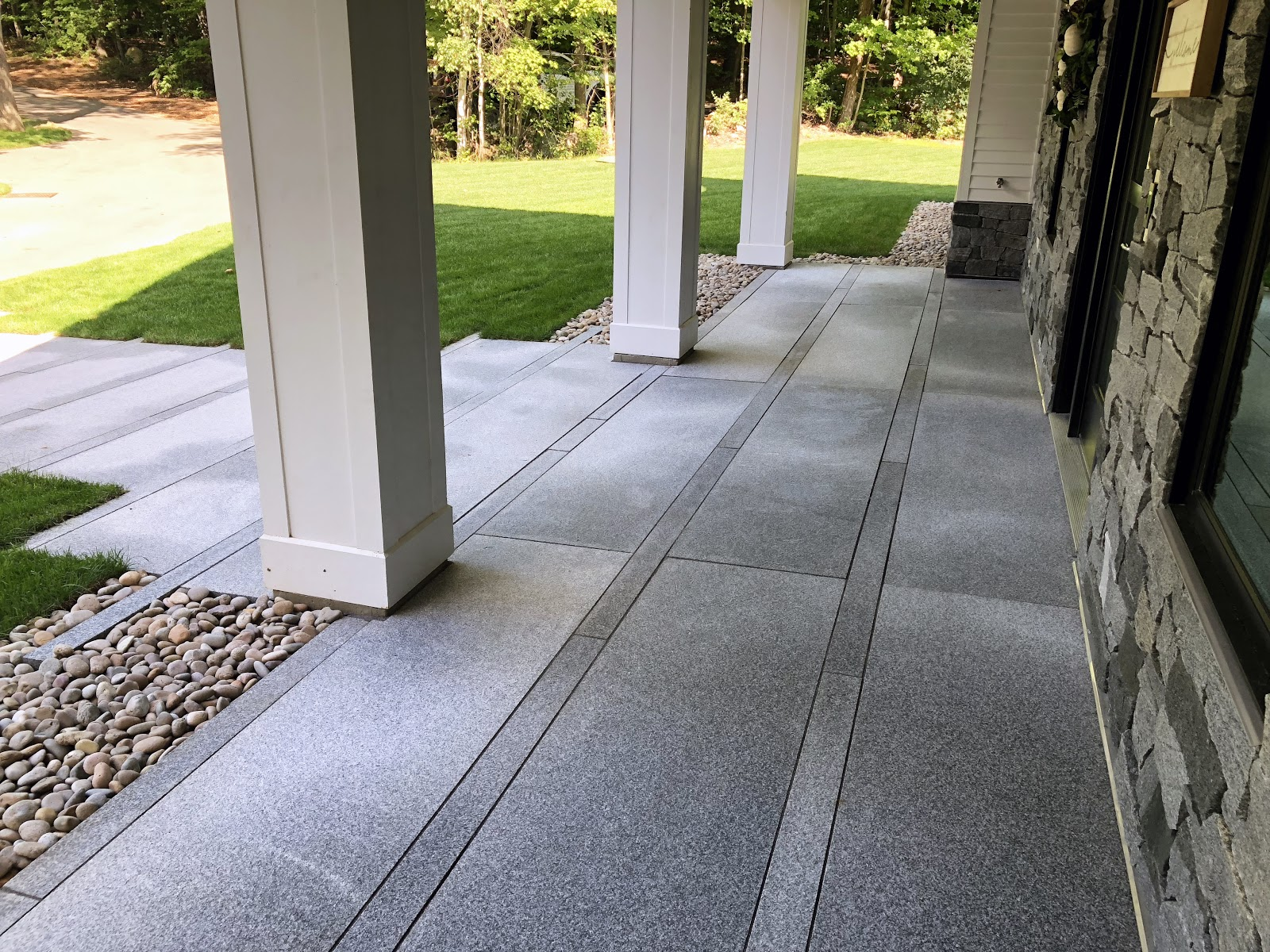 Front porch using Swenson granite