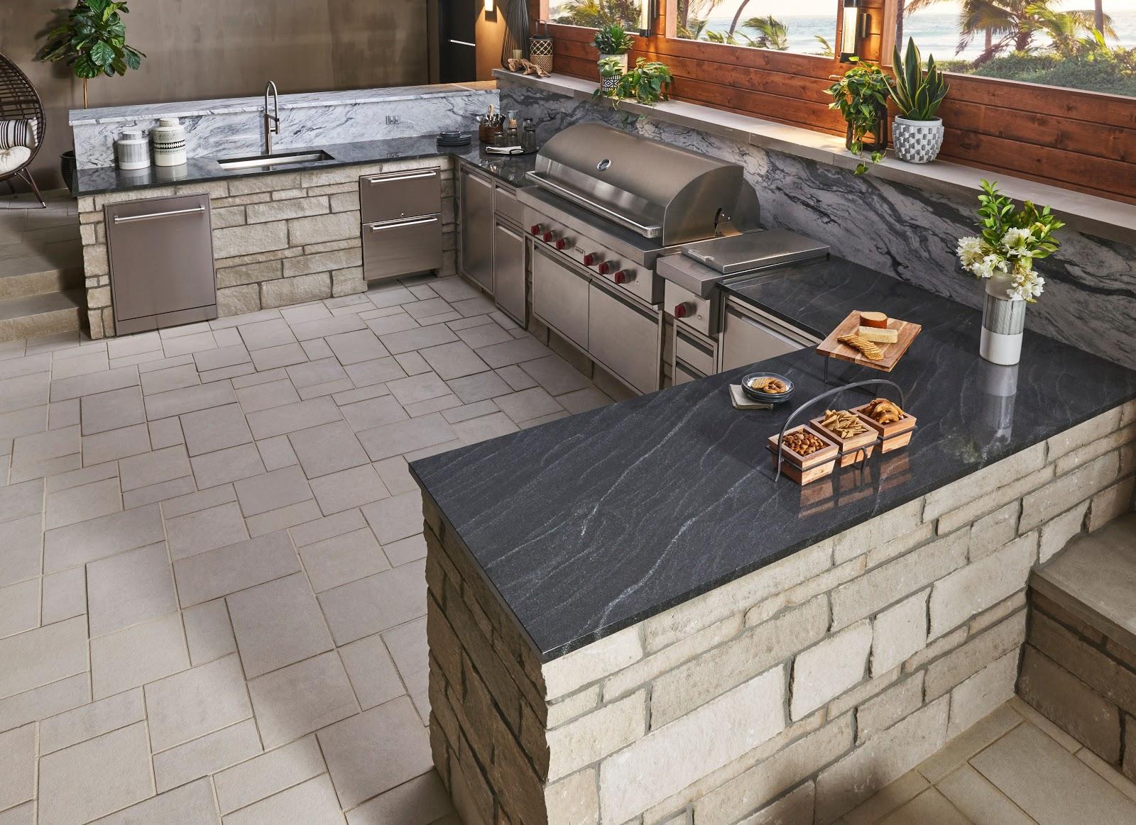 BERKSHIRE™ Indiana limestone thin veneer and Indiana Limestone - Full Color Blend pavers