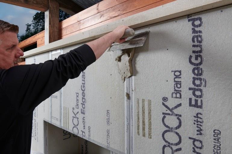 Installing Indiana limestone thin veneer