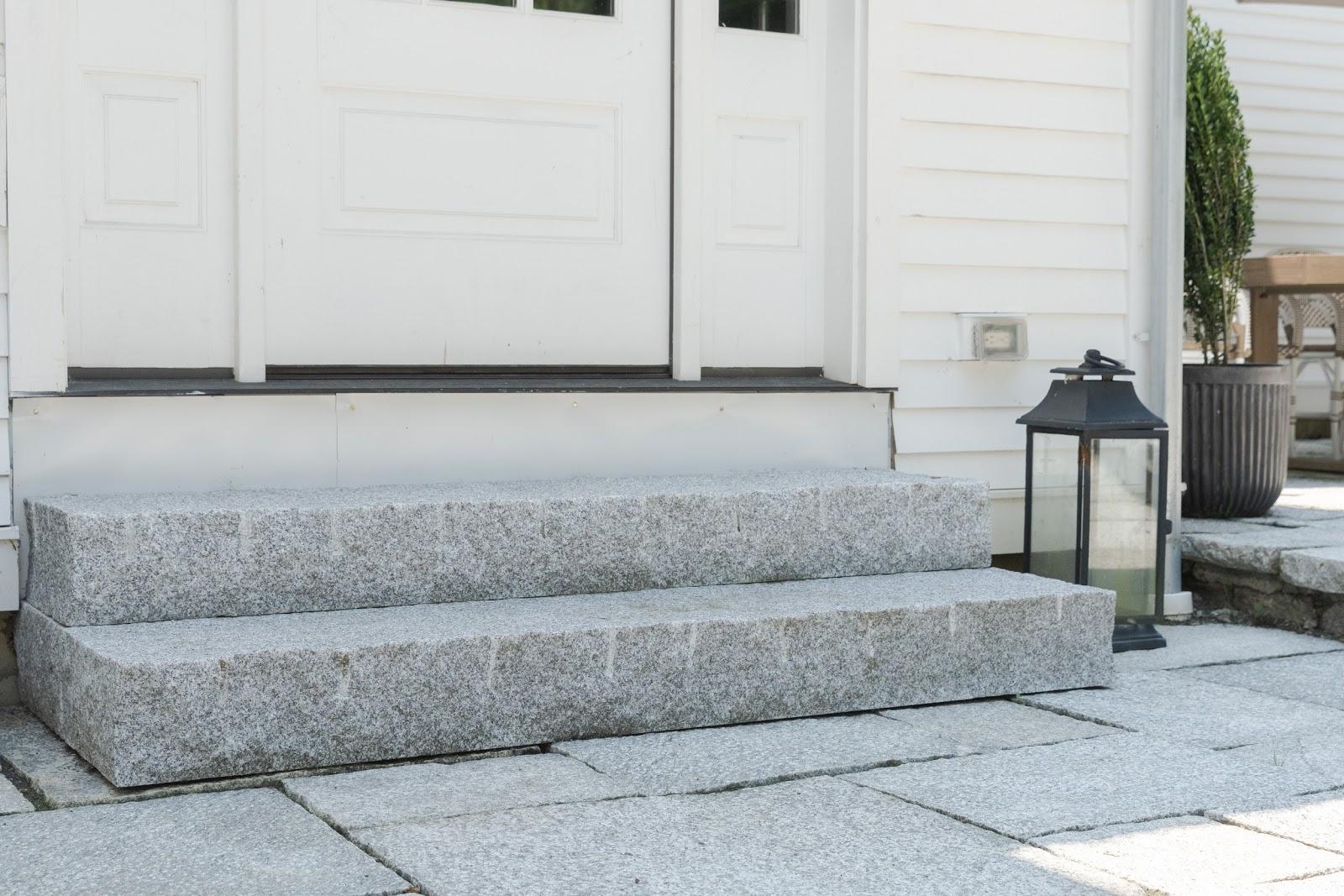 Woodbury Gray granite yankee style steps