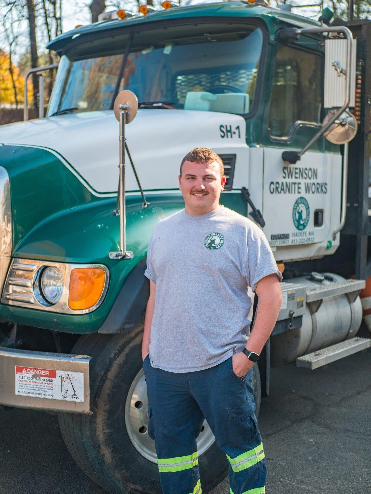 Photo of James Petrino, a Swenson Newtown store truck driver